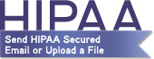 Send HIPAA Secured Email or Upload a File